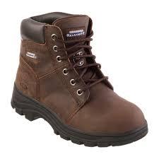 workshire peril women size 9 5 dark brown leather steel toe work boot