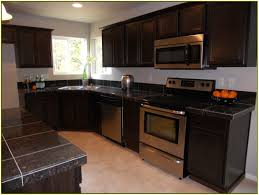Dark Granite Kitchen White Kitchen Cabinets With Dark Granite Countertops Home Design