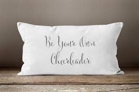 Pillow Quotes Extraordinary Cheerleader Cheerleader Gifts Quote Pillow Quotes Motivational
