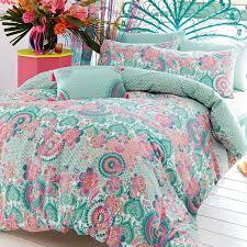 bali multi oriental print duvet cover set by accessorize