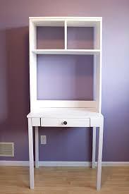 white desk with hutch small