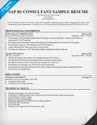 Sap Resumes For Experienced Sweet Sap B1 Consultant Resume Sample