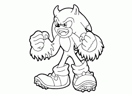 Sonic The Werehog Coloring Page Coloring Home