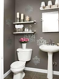gray powder room contemporary