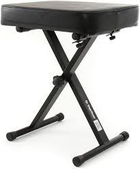 On-Stage Stands KT7800 Three-Position X-Style Bench image 1
