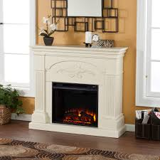 fireplace without mantle style
