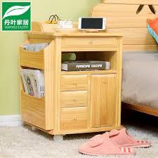 Solid <b>Wood Bedside</b> Table Simple Modern Mini Multifunctional ...