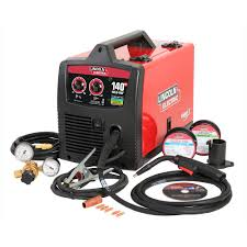 Lincoln Electric 140 Amp Weld Pak 140 Hd Mig Wire Feed Welder With Magnum 100l Gun Sample Spools Of Mig Wire And Flux Wire 115v