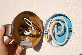 sealing recessed round junction box in stucco