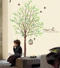 angel tree vinyl wall art stickers wall decal tree decalstudio on artfire on tree wall art decals vinyl sticker with angel tree vinyl wall art stickers wall decal tree decalstudio on