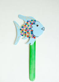 rainbow fish puppet kids craft kit create along while you read for toddlers
