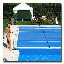 safety pool covers. Safety Cover Rolled Out Using A Motorized Handle Pool Covers C