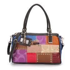 Coach Holiday Matching Stud Medium Black Multi Luggage Bags EBZ