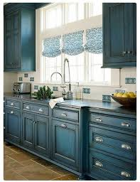 painted kitchen cabinets ideas. Blue Painted Kitchen Cabinets 23 Gorgeous Cabinet Ideas With Dark Glaze Design 564x731