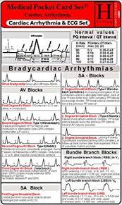 Cardiac Arrhythmia Ecg Set Medical Pocket Card Set