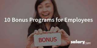 types of bonuses 10 bonus programs for