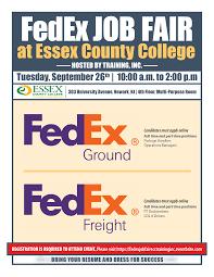 Fedex Job Fair At Essex County College Training Inc Tickets