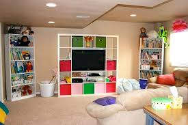 basement ideas for kids. Interior Creative Kids Room Designs In Basement Ideas With White Shelving For I