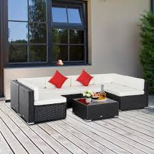 outsunny patio life coffee brown 7