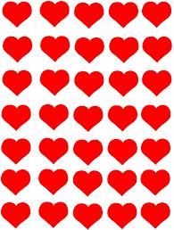 35 Gommettes Coeurs Amour Rouge 2 5cm Gommettes Enfants