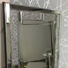diamond glitz full length wall mirror