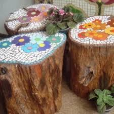 myo mosaic stool or side table using a