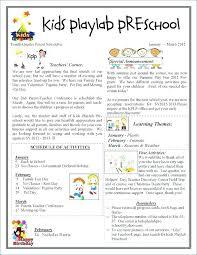 Preschool Newsletter Template Cool Birthday Newsletter Template Free Arabnorma