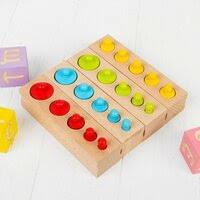 «<b>Игры</b> для детей Монтессори материал Цветные цилиндры ...