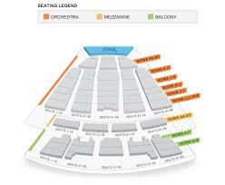 Seating Map Meridian Hall