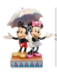 "Статуэтка ""<b>Микки</b> и Минни с зонтом (Романтика под дождем ..."