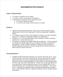 Example Of Argument Essays 9 Argumentative Essay Samples Examples Templates