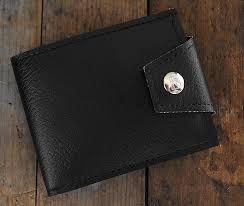 classic black vegan wallet