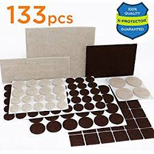 X PROTECTOR Premium TWO COLORS Pack Furniture Pads 133 Piece! Felt Pads  Furniture Feet