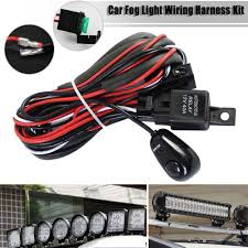 led car fog spot switch relay wiring harness kit w driving light bar led car fog spot switch relay wiring harness kit w driving light bar 12v 40a 1 of 12 shipping led car fog spot switch relay wiring harness