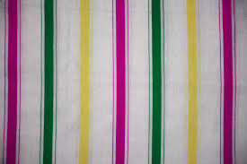 Striped Fabric Texture Pink Green And Yellow On White Picture