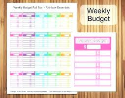 Simple Budget Template Printable Bi Weekly Budget Template Printable ...