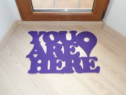 Personalized floor mat You are here with Google