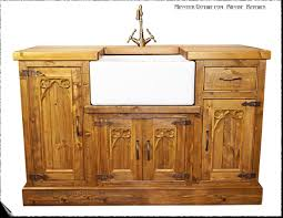 kitchen furniture photos. Minster Gothic Rustic Kitchen Belfast Sink Unit. Click On This Photo For A Larger Image Furniture Photos