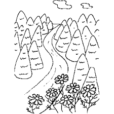 Small Picture Road Coloring Sheet