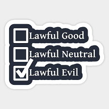 Alignment Chart 5e Lawful Evil Dnd 5e Pathfinder Rpg Alignment Role Playing Tabletop Rng Checklist By Rayrayray90