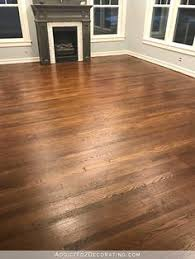 refinishing red oak hardwood floors adding stain to first coat of polyurethane to darken the