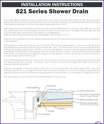 oatey shower drain install instructions shower drain installation instructions