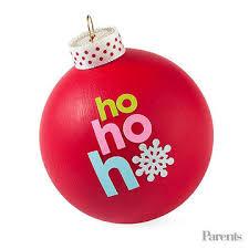 Homemade sticker ornament