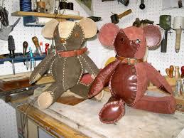 custom made leather teddy bear