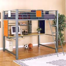 loft bed with desk under bunk stairs combo full size plans