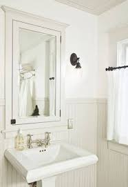 recessed bathroom medicine cabinets. White Recessed Bathroom Medicine Cabinets Over Pedestal Sink . S