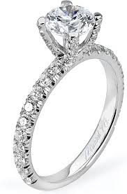this image shows the setting with a 1 00ct round brilliant cut center diamond the
