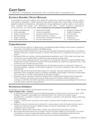 Sample Of Resume For Electrical Engineer Free Resume Example And