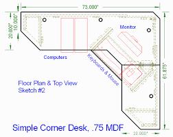 corner computer desk plans adorable exterior picture a corner computer desk plans design
