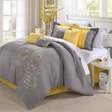 grey and yellow furniture. this grey and yellow comforter setwith its delicate paisley detail seems destined to furniture